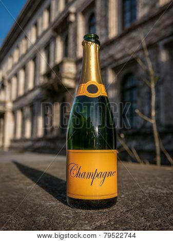 Empty New Year Champagne