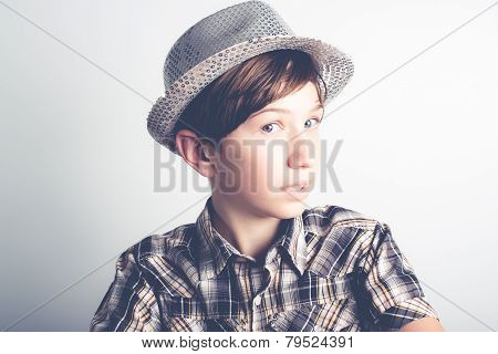 shy little boy