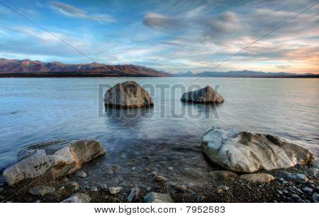 Sunrise Over Lake Pukaki