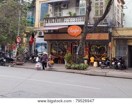 On The Street In Hanoi
