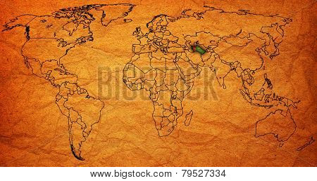 Turkmenistan Territory On World Map