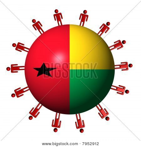 People and Guinea Bissau Flag Sphere