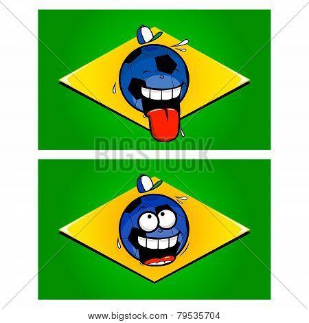 Brazilian funny football flags