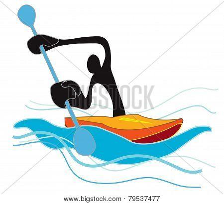 Flat Water Canoe.