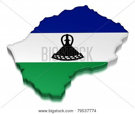 Lesotho (clipping path included)