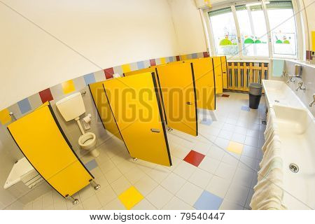 Bathroom Of A School For Children