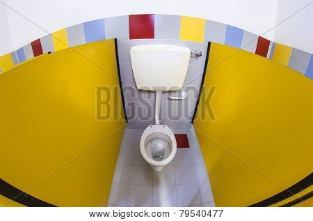 Bathroom Of A School For Children With Water Closet