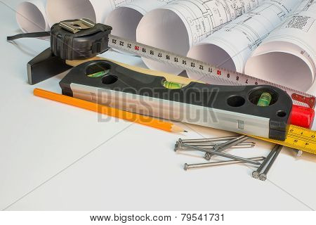 Drawing rolls and construction tools composition