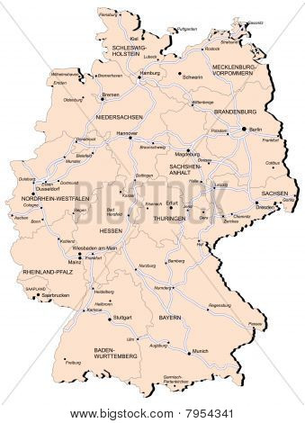 Germany Railway Map