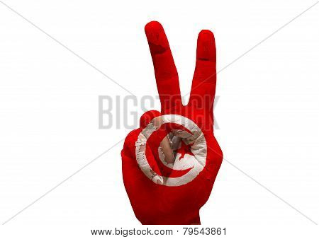 Hand Making The V Sign