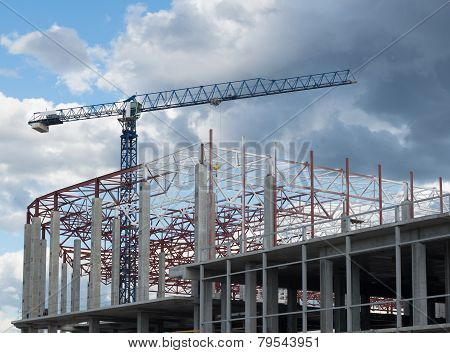 Building Framework And Tower Crane