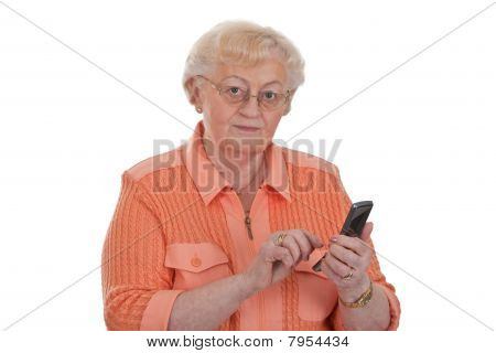 Grandma Writing Sms