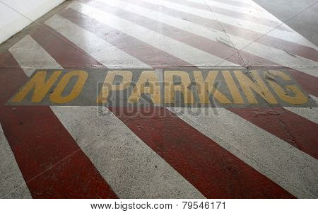 No Parking Sign On Ground