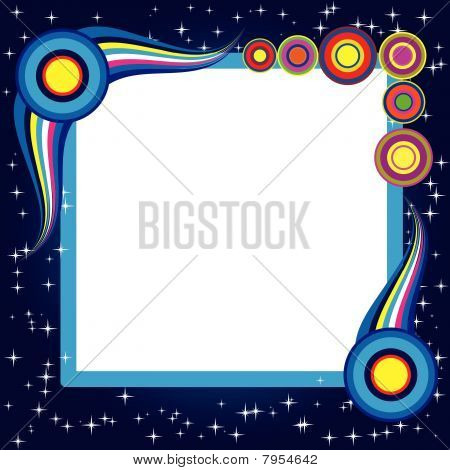 Abstract background with retro elements and stars