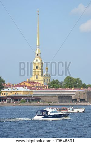The Peter And Paul Fortress, St. Petersburg.