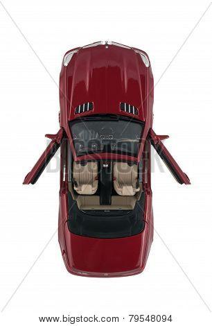 Red German Car Mercedes-Benz SL 550