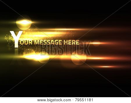 EPS10 vector abstract effect on black background for the text of your choice; has bright warm colors and a bit of blur