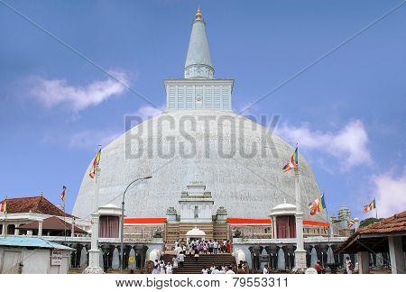 Anuradhapura - circa December 2014: stupa Ruwanvali-seya Dagoba in Sri Lanka circa December 2014