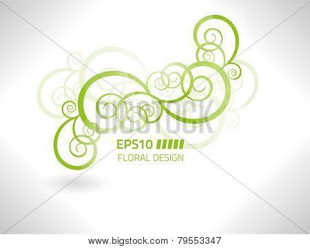 EPS10 vector floral design against white background