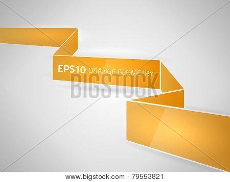 Vector orange geometry design