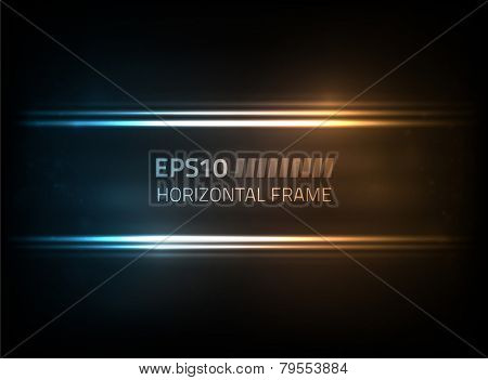 EPS10 vector horizontal frame against a dark background