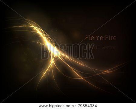 EPS10 vector fierce fire