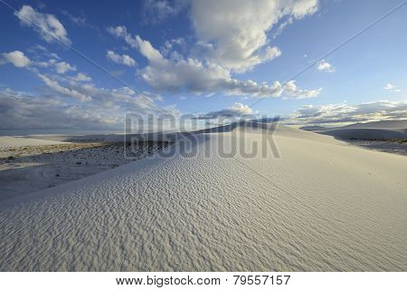 Sand Dune Patterns and Dramatic Blue Sky