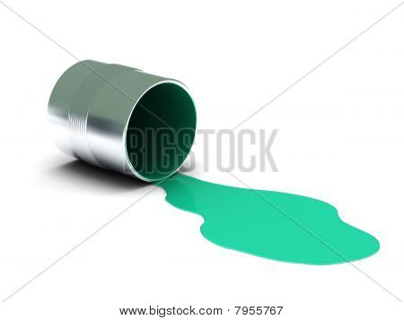 Aquamarine Spilled Paint