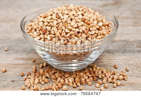 Dry Buckwheat Groats In A Bowl