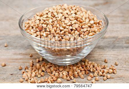 Dry Buckwheat Groats In A Bowl