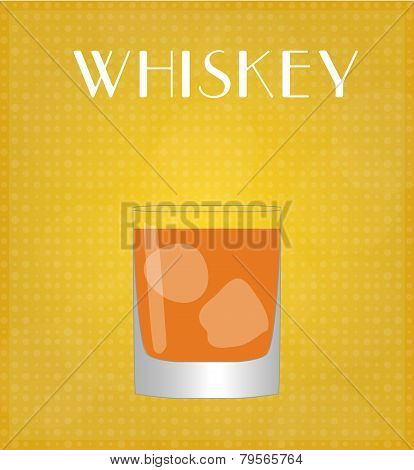 Drinks List Whiskey With Golden Background