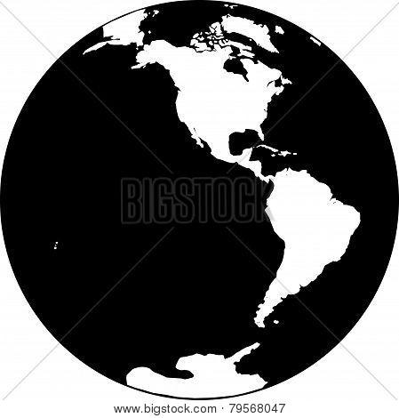 earth Amerika-black