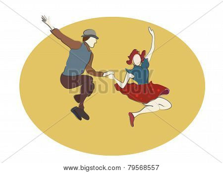 Swing Dancing people. Swing Music