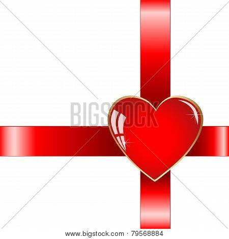 Gift With Red Heart