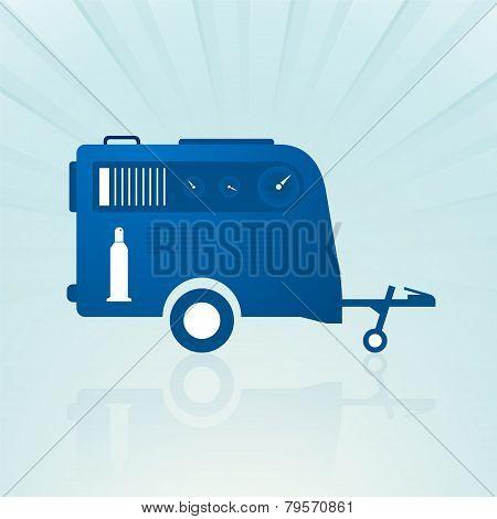 Auto Trailer With Compressor