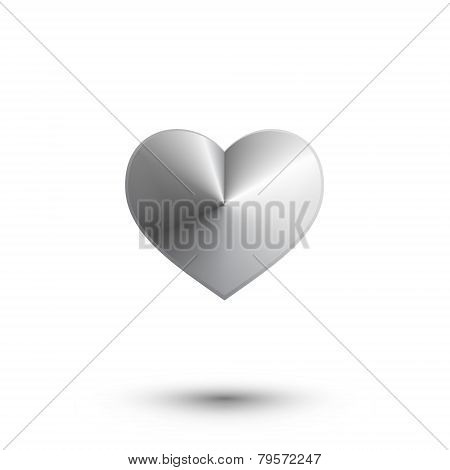 Abstract metal 3d vector heart