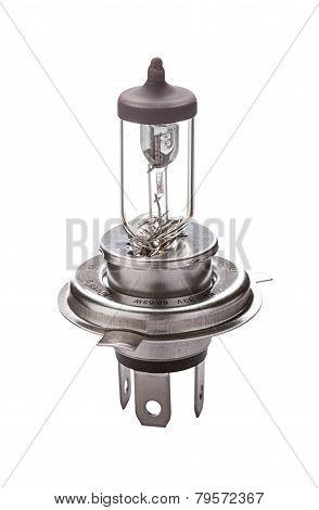 Car Headlight Lamp H4 Isolated