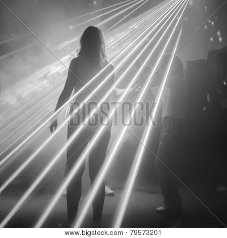 woman on dance floor