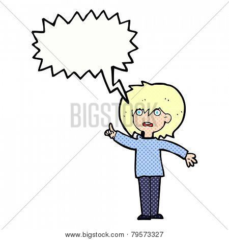cartoon shouting woman