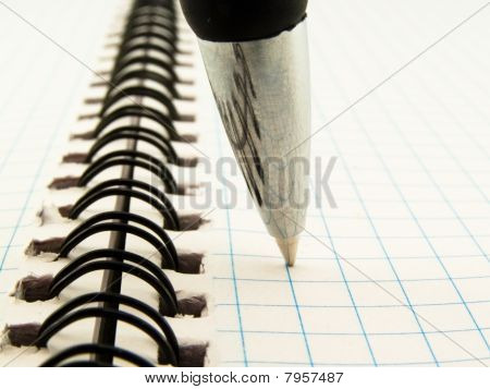Ball-point Pen On Notebook