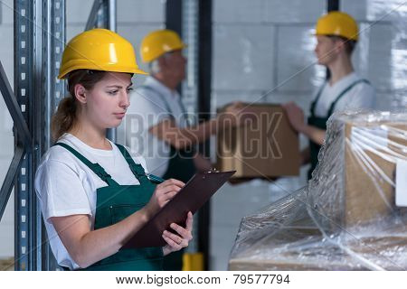 Female Engineer Controlling Work