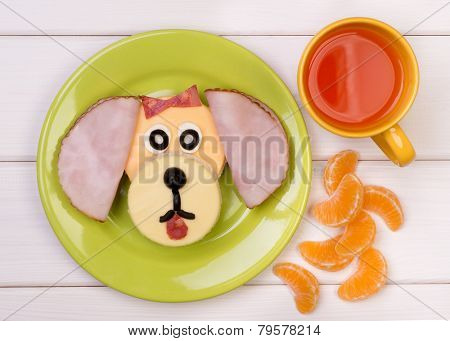 Funny sandwich for a child