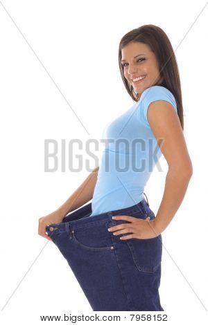 calças de brim de perda de peso