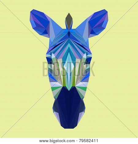 Polygonal Geometric Triangle Abstract Zebra
