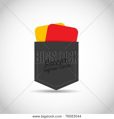 Soccer football referee red yellow cards
