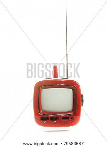 Retro old television small plastic case.