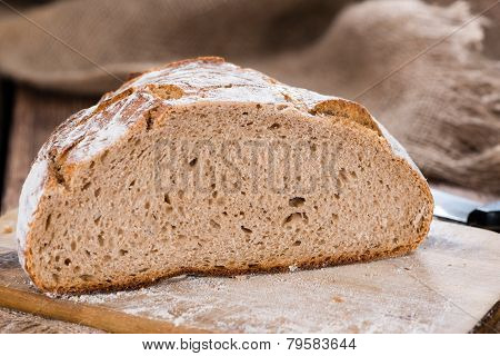 Rustic Bread On Wooden Background