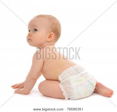Infant Child Baby Toddler Sitting Crawling Backwards Happy Smiling