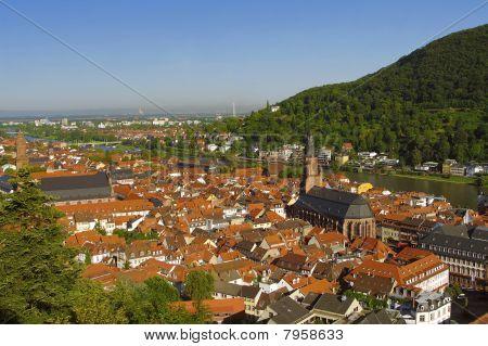 Heidelberg - cidade velha (altstadt), View From Above