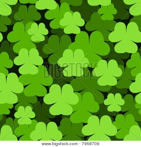 Seamless shamrock pattern